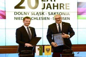 Premier Saksonii odznaczony przez dolnośląski Sejmik