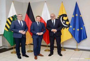 Premier Wolnego Państwa Saksonia gościem marszałka